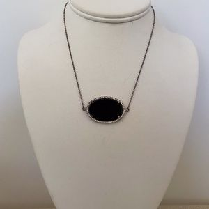 Stunning Onyx Sterling Pendant Necklace